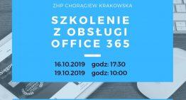 Szkolenie zobsługi Office 365 ZHP Chorągwi Krakowskiej