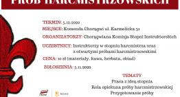 Warsztaty dla opiekunów prób harcmistrzowskich