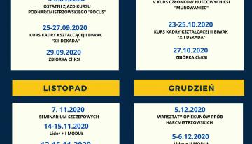 Kalendarz form kształceniowych dokońca 2020 roku