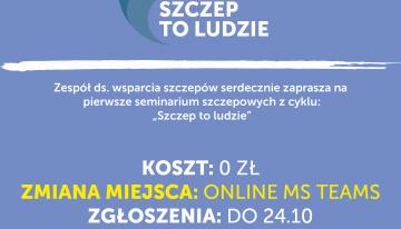 """Seminarium szczepowych """"Szczep toludzie"""""""